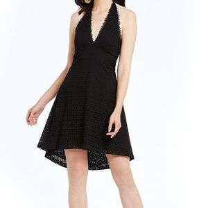 Badgley Mischka Sophia NWT Black Eyelet Dress SZ 8